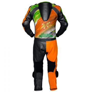 Abstract Riding Leather Suit