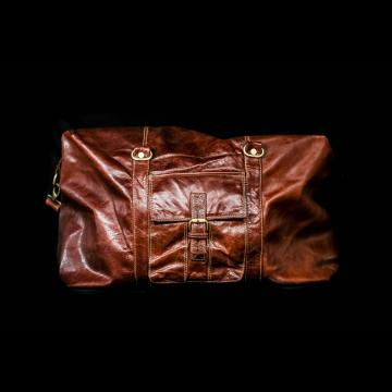 Rome Leather Luggage Carrier Bag