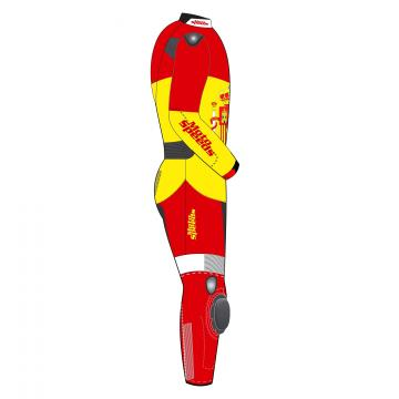 Spain Rounded Flag Riding Leathers