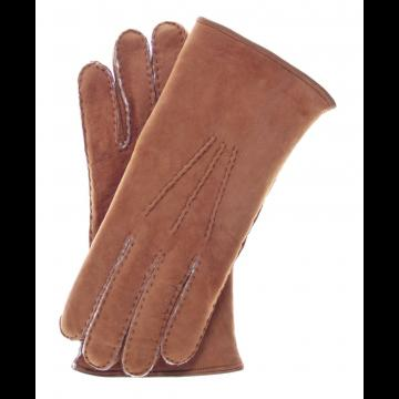 Suede Shearling Gloves