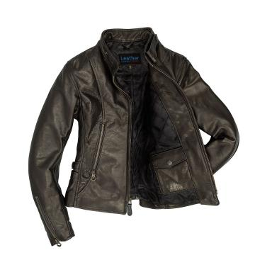 Cafe Racer Leather Jacket Womens
