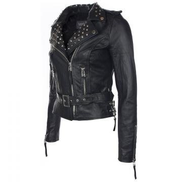 Womens Leather Jacket With Studs