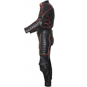 Leather X MEN Suit with Orange Piping
