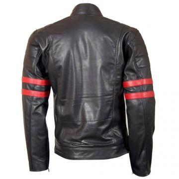 X-MEN Leather Jacket Wolverine with Red Strips