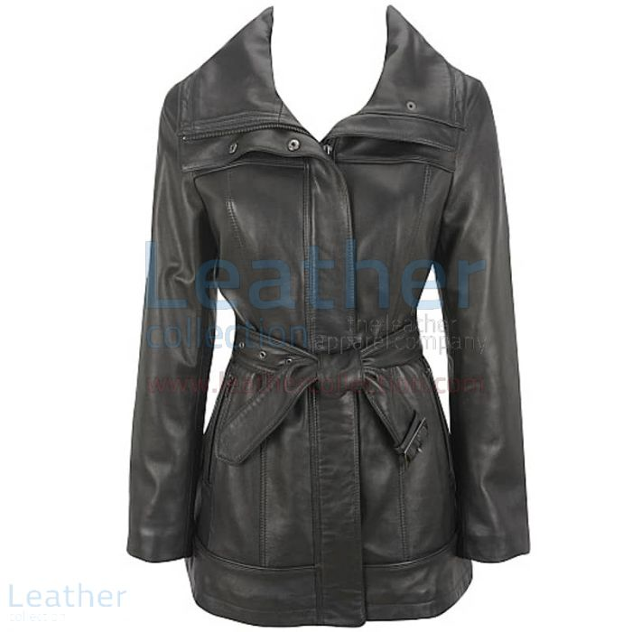 Belted Leather Duffle Coat    2011