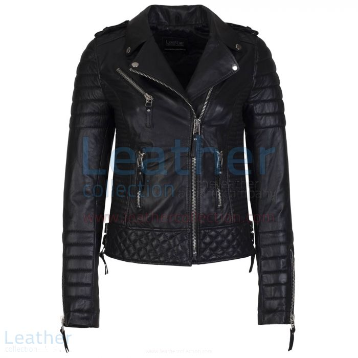 red quilted leather jacket
