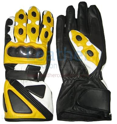 Yellow Motorcycle Gloves