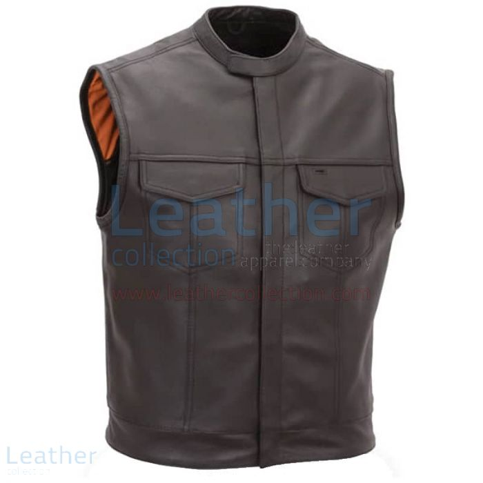 Mens Motorcycle Vest With Scooter Collar