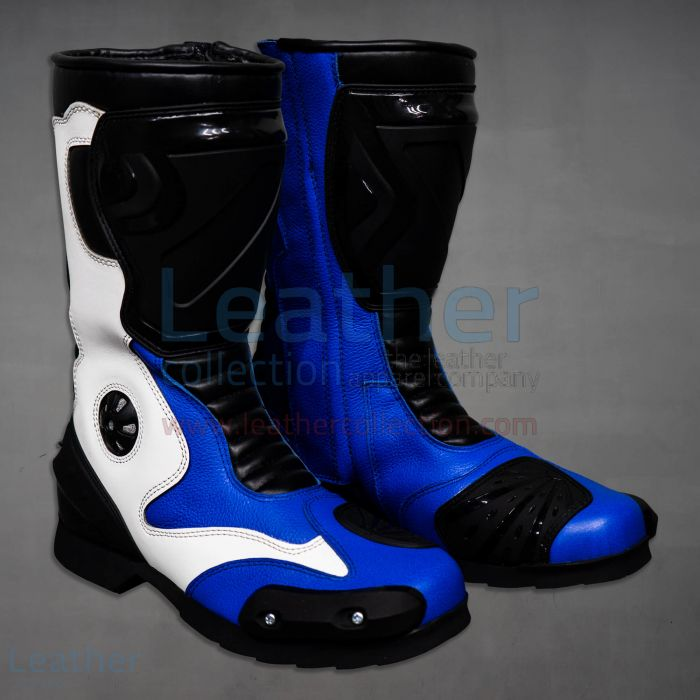 Blue Motorcycle Boots