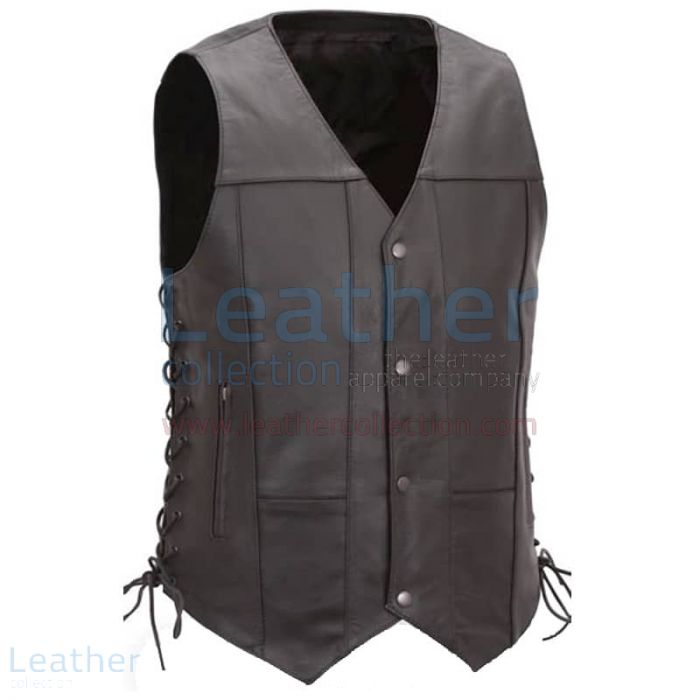 Leather Motorcycle Vest Mens