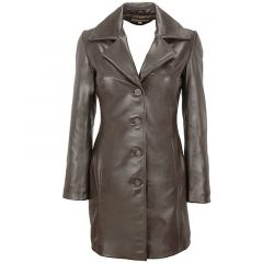 leather trench coat womens