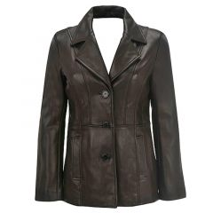 Leather Blazer For Women front view