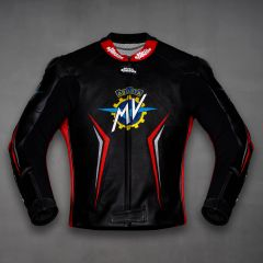 MV Agusta 2017 Motorcycle Leather Jacket front view