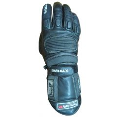 Stallion Leather Racing Gloves upper view