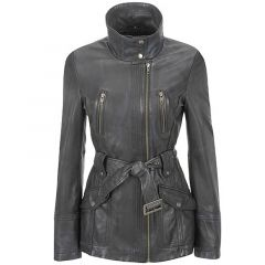 black leather trench coat womens