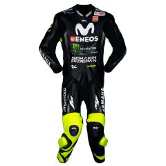 Valentino Rossi Movistar Yamaha 2018 Suit in Black front view