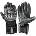 red and black motorcycle gloves