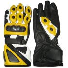 yellow leather motorcycle gloves